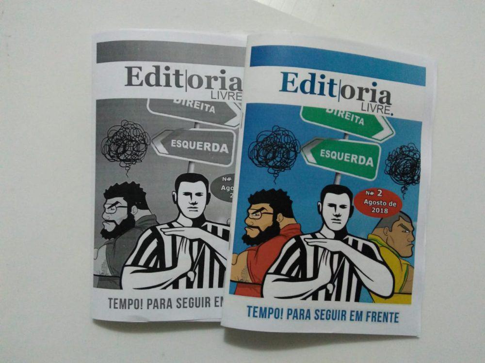 Capas da segunda edição do fanzine Editoria Livre