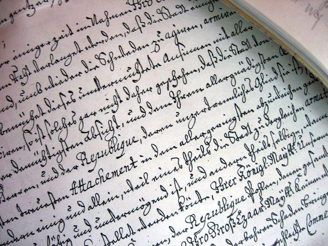 Escrita manuscrita gotica