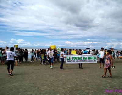 Escolas de Peruíbe participam de protesto mundial contra as mudanças climáticas