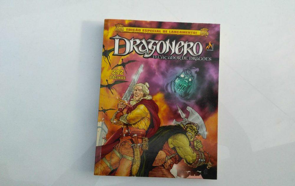 Capa da primeira edição de Dragonero no Brasil