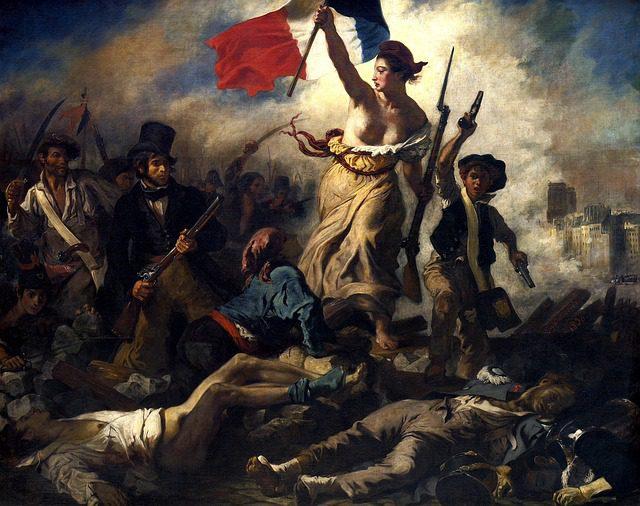 Quadro símbolo da Revolução Francesa