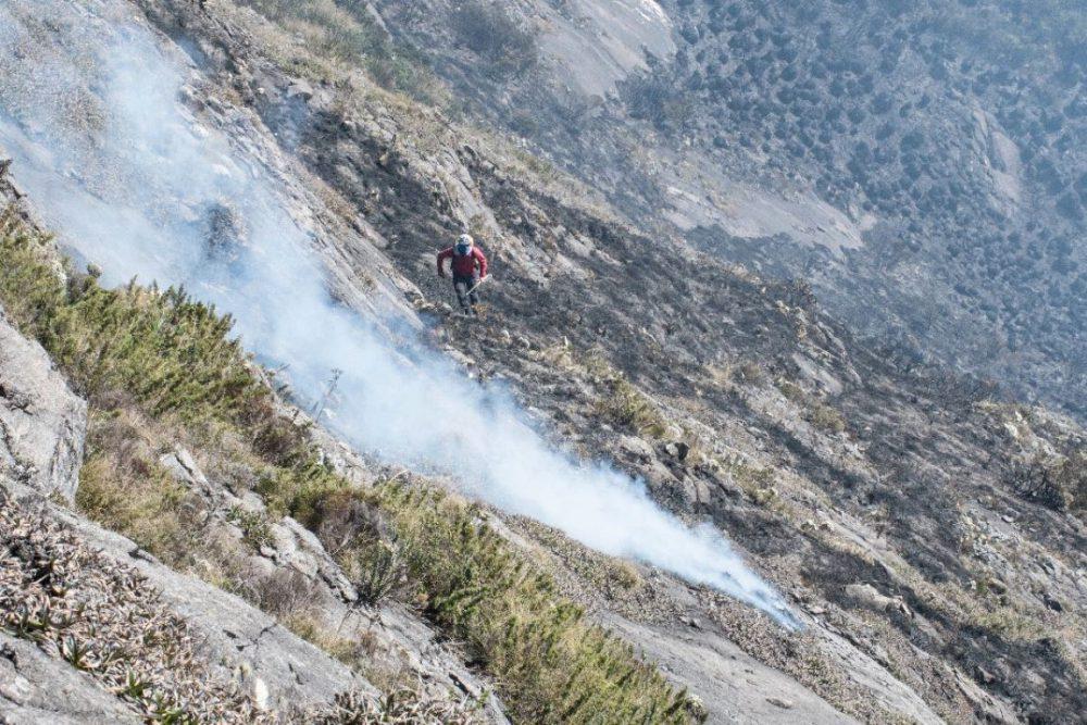 Incêndio na Serra da Mantiqueira destrói 490 hectares entre SP e MG