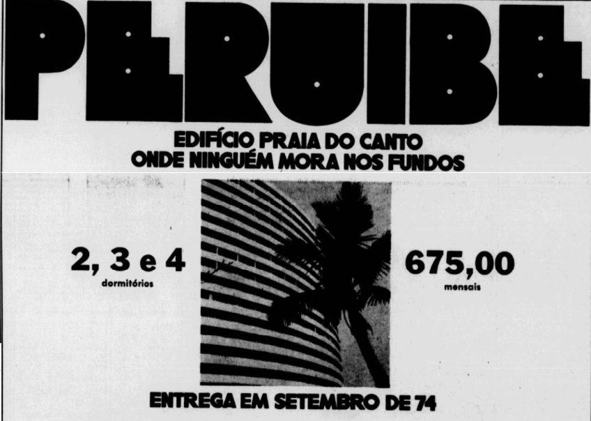 Histórico: Jornal anunciava apartamentos no prédio redondo, em setembro de 1973