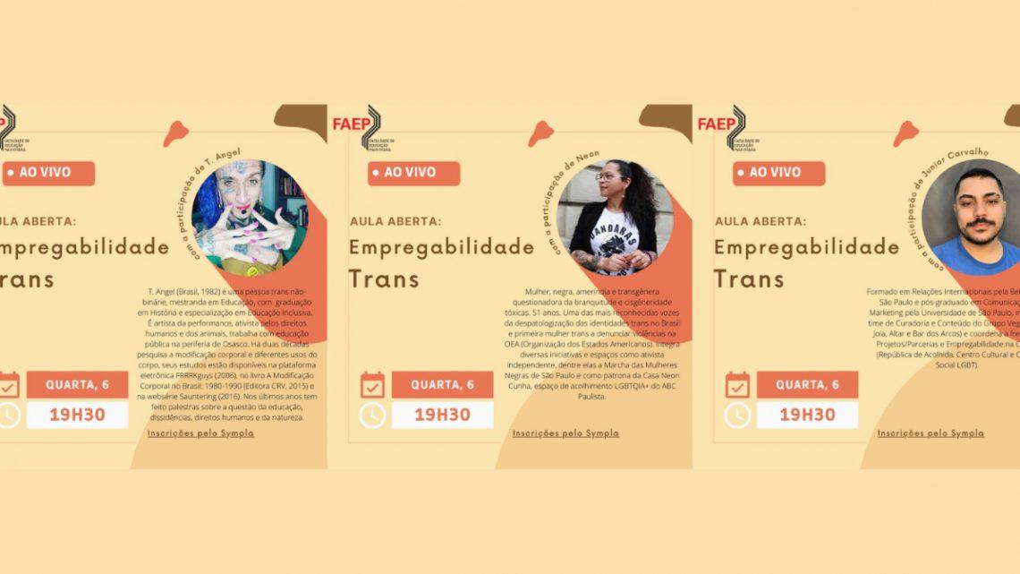 FAEP promove palestras sobre o mercado de trabalho e a população trans